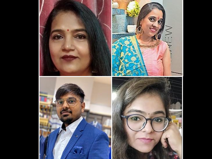 પ્રફ્રુલાબેન જેઠવા,  પ્રફ્રુલાબેન જેઠવા,  શ્યામ લખતરિયા, જ્હાન્વી જોશી (ડાબેથી) - Divya Bhaskar