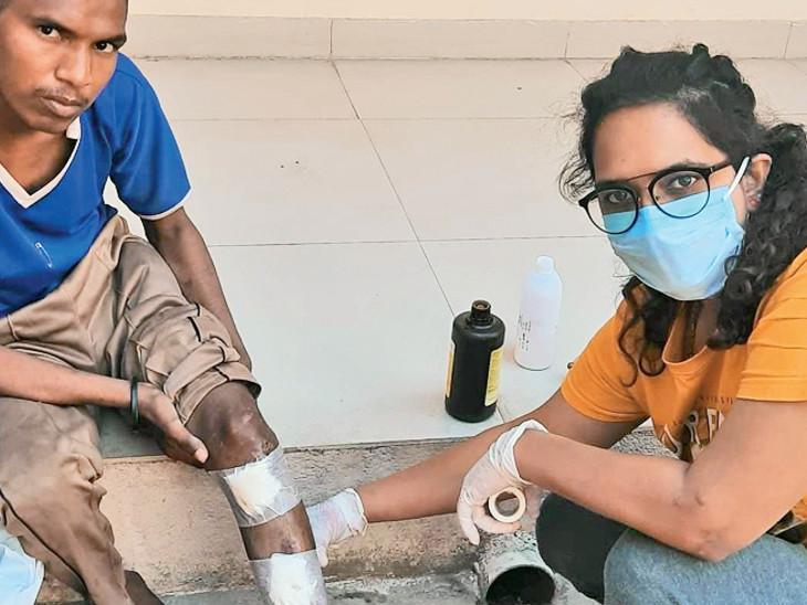 રસ્તે રઝળતા, બીમાર દરિદ્રનારાયણોની સેવા કરે છે આણંદની યુવતી|વડોદરા,Vadodara - Divya Bhaskar