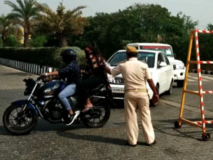 રવિવારની રજામાં સુરતીઓએ ડુમસ તરફ દોટ મૂકી, પોલીસે રસ્તો જ બંધ કરી દીધો, સહેલાણીઓ વિલા મોઢે પરત ફર્યા|સુરત,Surat - Divya Bhaskar
