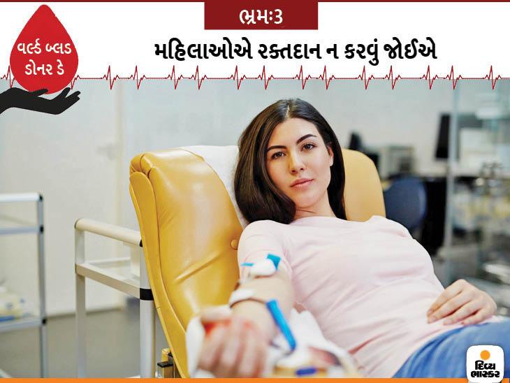 લીના હૂડાના જણાવ્યા પ્રમાણે, આ વાત તદ્દન ખોટી છે. ઘણી વખત મહિલાઓમાં હીમોગ્લોબિનનું લેવલ ઓછું હોય છે તેને કારણે તેમને રક્તદાન માટે ના કહેવામાં આવે છે. જોકે એ વાત સાચી છે કે ભારતમાં બ્લડ ડોનર્સમાં મહિલાઓની ઓછી સંખ્યા છે.
