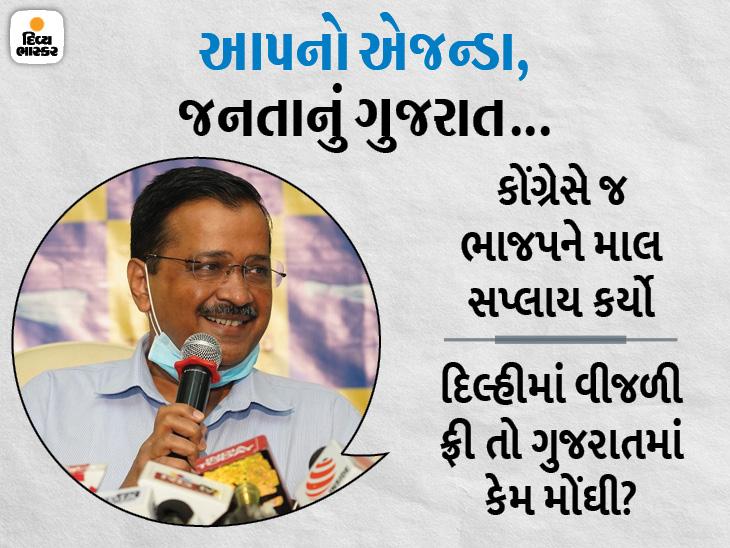 હવે બદલાશે ગુજરાત, દિલ્હી મોડલથી ગુજરાતમાં ચૂંટણી લડવા કેજરીવાલનો સંકેત, કોંગ્રેસ ભાજપના ખિસ્સામાં છે|અમદાવાદ,Ahmedabad - Divya Bhaskar