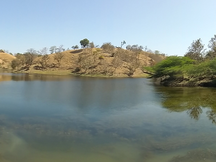 વિજયનગરના લક્ષ્મણ ટેકરી નીલકંઠ મહાદેવ તળાવ ઊંડું કરવા રજૂઆત કરવા છતાં સરકાર-સિંચાઈ વિભાગે કશુ કર્યું નથી. - Divya Bhaskar