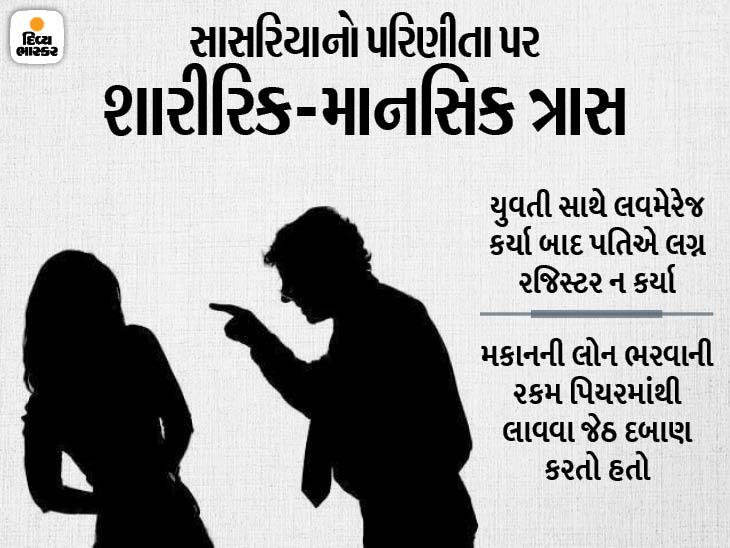 વડોદરામાં લવ મેરેજ બાદ પતિએ અંગતપળોના વીડિયો વાઇરલ કરવાની પત્નીને ધમકી આપી, જેઠે કહ્યું: 'તું જતી રહે નહીં તો તારા પર એસિડ ફેકીશ'|વડોદરા,Vadodara - Divya Bhaskar