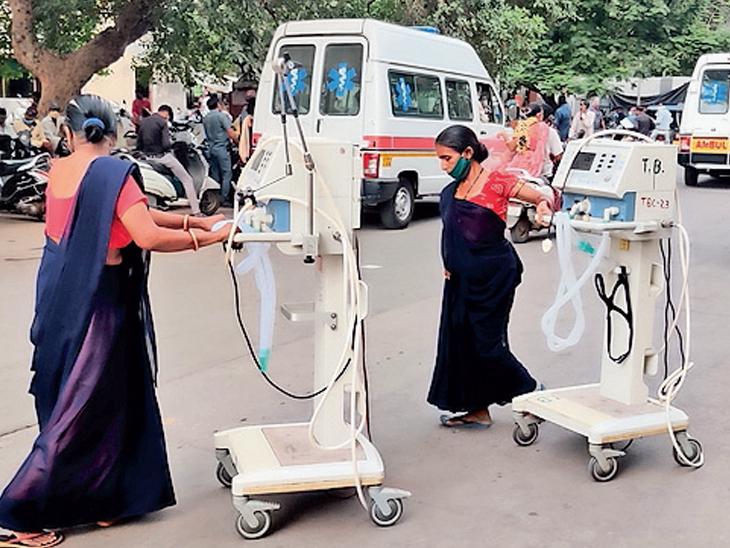 ખાનગી હોસ્પિટલમાંથી સરકારી વેન્ટિલેટર પરત મગાયા, 60ની ઘરવાપસી - Divya Bhaskar