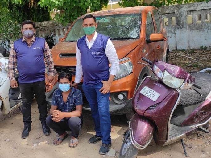 ચોરીના વાહનો સાથે પકડાયેલ આરોપી - Divya Bhaskar