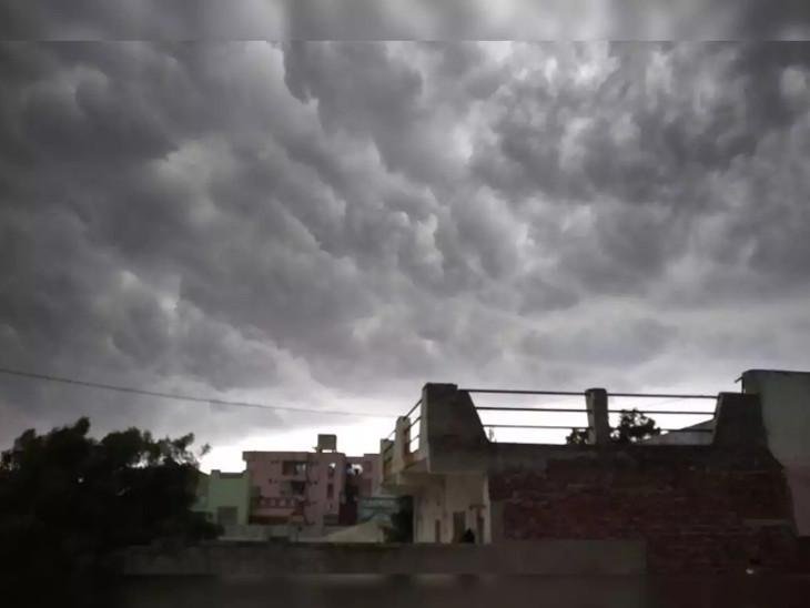 ભારે વરસાદની આગાહી વચ્ચે રાજકોટમાં ઝરમર વરસાદ, આગોતરૂ વાવેતર કરનાર ખેડૂતોની ચિંતામાં વધારો|રાજકોટ,Rajkot - Divya Bhaskar
