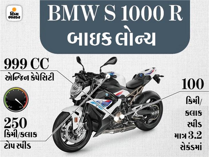 મોટોર્રાડ ઇન્ડિયાની 2021 BMW S 1000 R બાઇક લોન્ચ થઈ, ફક્ત 3 સેકંડમાં 100 કિમીની સ્પીડ પકડી લેશે ઓટોમોબાઈલ,Automobile - Divya Bhaskar