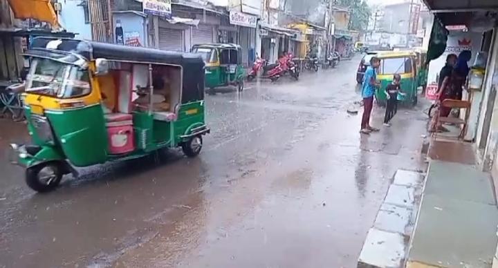 મહેસાણા માં વરસાદ નું આગમન