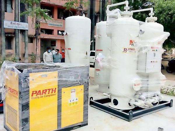 એક મિનિટમાં 250 લિટર ઓક્સિજન ઉત્પાદનની ક્ષમતા ધરાવતો પ્લાન્ટ 30 લાખના ખર્ચે ઊભો કરાશે|ગોંડલ,Gondal - Divya Bhaskar