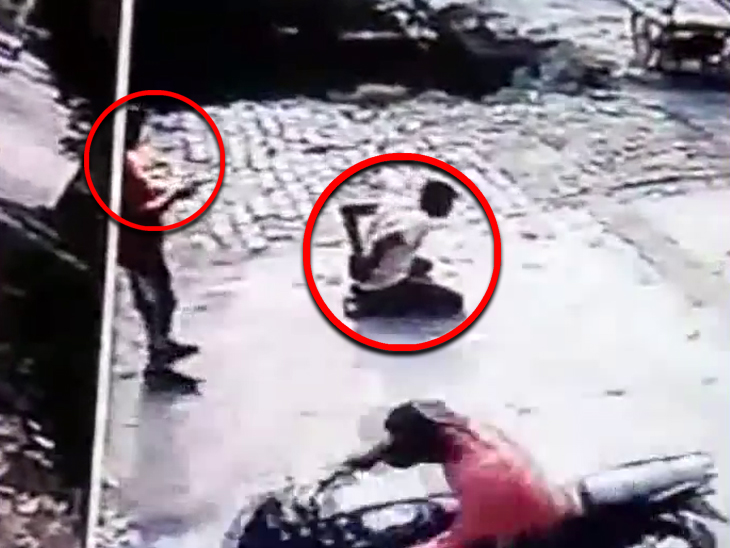 જાહેરમાં ગોળી મારી યુવકની હત્યા કરી આરોપી ભાગી ગયો, જુઓ શૉકિંગ CCTV ફૂટેજ ઈન્ડિયા,National - Divya Bhaskar