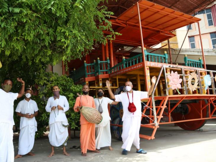 સુરતમાં મંજૂરી મળે તો ભગવાન જગન્નાથની રથયાત્રા યોજવા ઈસ્કોન મંદિર દ્વારા તૈયારી શરૂ કરાઈ|સુરત,Surat - Divya Bhaskar