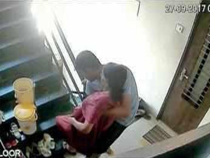 CCTV ફૂટેજે સંદિપના ફીટકાર વરસાવતા કૃત્યનો ભાંડો ફોડ્યો હતો