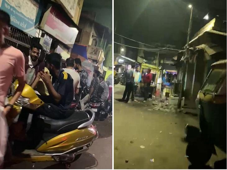 અમદાવાદમાં કડક નાઈટ કર્ફ્યૂના દાવા વચ્ચે કારંજમાં રાત્રે માસ્ક વિના લોકો ટોળે વળ્યા, સવારે 6 વાગ્યા સુધી લારી-ગલ્લા ચાલુ હોય છે અમદાવાદ,Ahmedabad - Divya Bhaskar