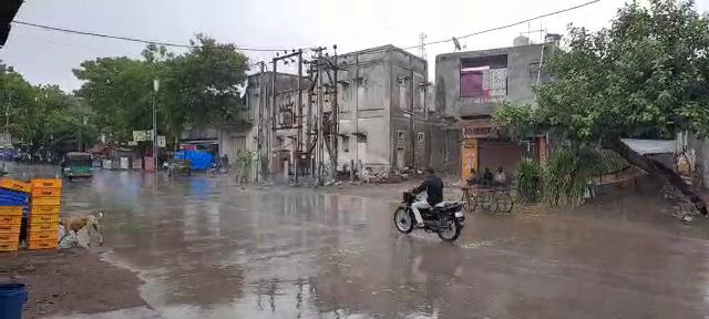 રાજકોટમાં ઝરમર, વીરપુર અને જેતપુરમાં વીજળીનાં કડાકા ભડાકા સાથે ધીમીધારે વરસાદ, કાલે NDRFની ટીમ આવશે|રાજકોટ,Rajkot - Divya Bhaskar