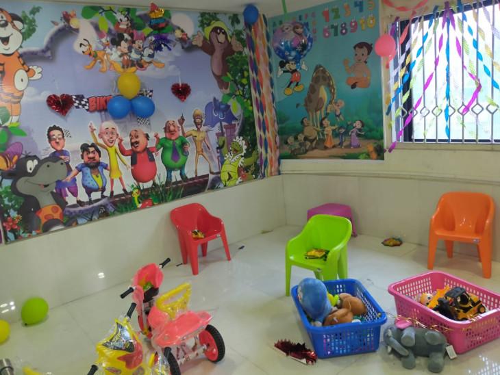ચિલ્ડ્રન રૂમમાં આરોપીઓનાં બાળકોને પણ રાખવામાં આવે છે.