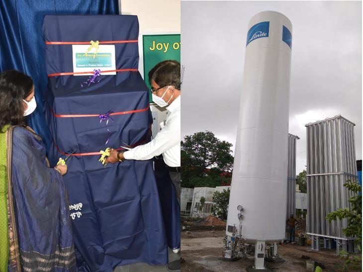 રાજકોટ સિવિલ હવે રોજ 50 હજાર લીટર ઓક્સિજન પુરો પાડવા સક્ષમ, USAથી મ્યુકોરમાઈકોસિસની સર્જરી માટે 25 લાખના બે મશીન દાનમાં મળ્યા|રાજકોટ,Rajkot - Divya Bhaskar