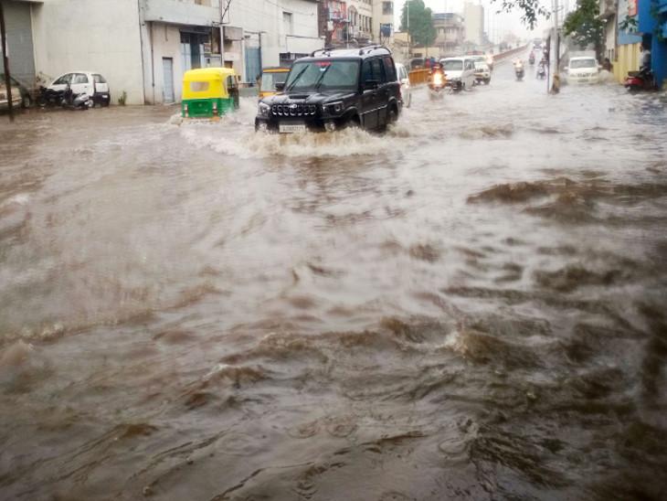 એક ઇંચ વરસાદમાં શહેર પાણી પાણી થઇ જાય છે.