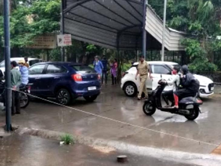 શહેરમાં ફરી વરસાદી માહોલ જામતા વાતાવરણમાં ઠંડક પ્રસરી ગઈ હતી. - Divya Bhaskar