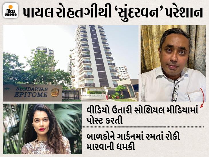 પાયલ રોહતગીએ ત્રણ મહિનાથી ફ્લેટમાં અરાજકતા ફેલાવી, સિનિયર સિટિઝનને ધમકી આપતી, મેન્ટેનન્સ પણ નથી ચૂકવ્યું|અમદાવાદ,Ahmedabad - Divya Bhaskar
