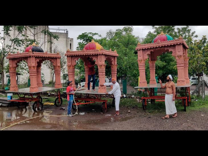 મંજૂરી મળે તો શહેરમાં, અન્યથા મંદિર પરિસરમાં અષાઢી બીજે યાત્રા નીકળશે|રાજકોટ,Rajkot - Divya Bhaskar