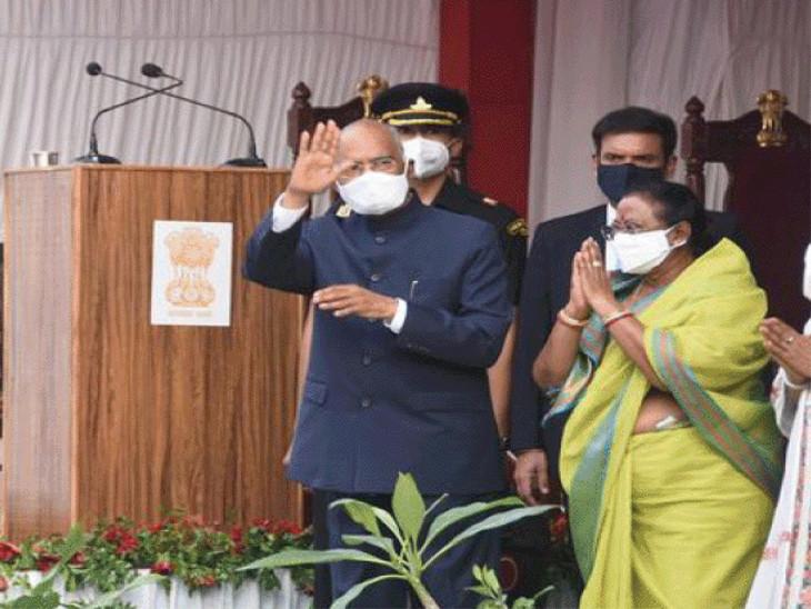 શુક્રવારે એટલે કે 25 જૂનની સાંજે રાષ્ટ્રપતિ વિશેષ ટ્રેનથી કાનપુર પહોંચ્યા હતા - Divya Bhaskar