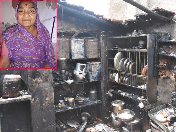 આગના કારણે રસોડામાં રહેલાં વસંતબાનું મૃત્યું. - Divya Bhaskar