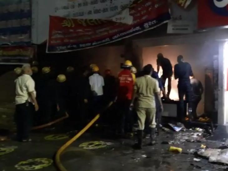 સુરતના અઠવાલાઇન્સમાં જલારામ ડેરીમાં આગ લાગી, દૂધ બનાવટની તમામ વસ્તુઓ બળીને ખાખ|સુરત,Surat - Divya Bhaskar