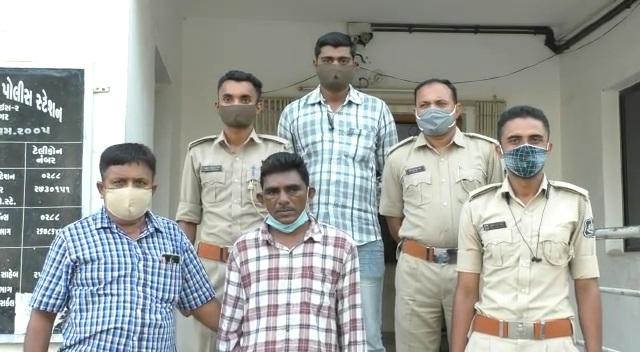 જે પરિવારે આશરો આપ્યો તેમની જ દીકરીનું અપહરણ કરી દુષ્કર્મ આચર્યું, પોલીસે આરોપીને અમદાવાદથી ઝડપી યુવતીને છોડાવી|જામનગર,Jamnagar - Divya Bhaskar