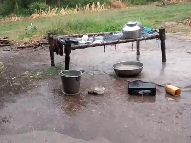 વીંછિયાના ભડલી ગામે ધીમીધારે વરસાદ પડ્યો. - Divya Bhaskar