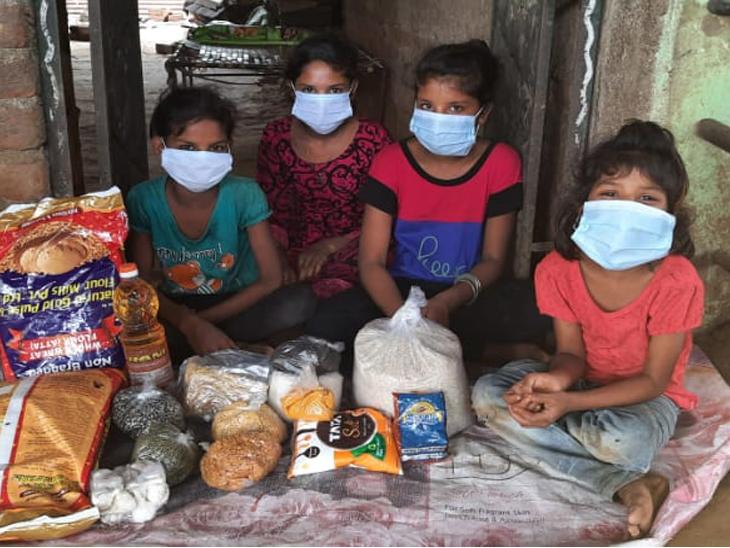 માતા પિતા ગુમાવનાર 4 બાળકીઓને અમદાવાદની સંસ્થા દ્વારા રાશન કીટ આપવામાં આવી - Divya Bhaskar