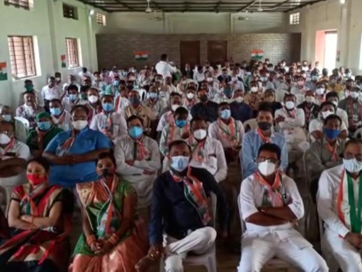 કારોબારીની બેઠકમાં મોટીસંખ્યામાં કાર્યકરો હાજર હતા. - Divya Bhaskar