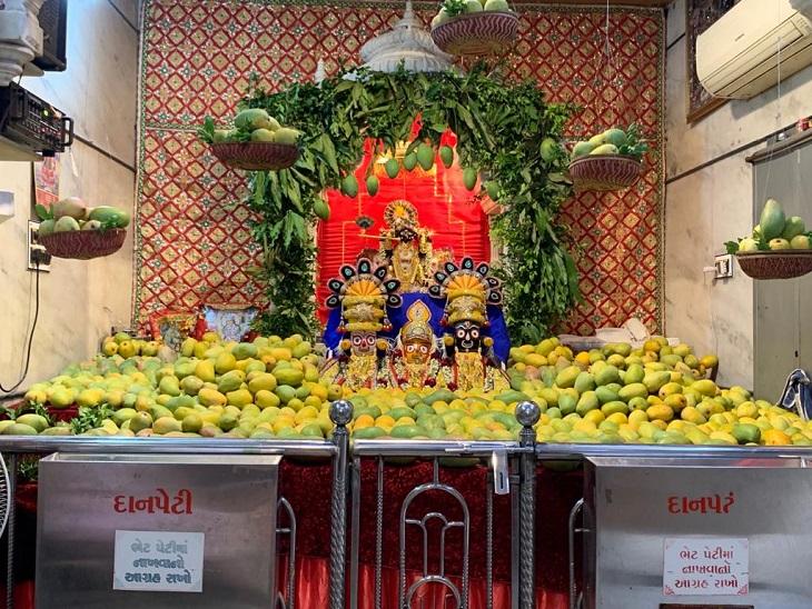 સરસપુરમાં ભગવાનને 400 કિલો કેસર - Divya Bhaskar