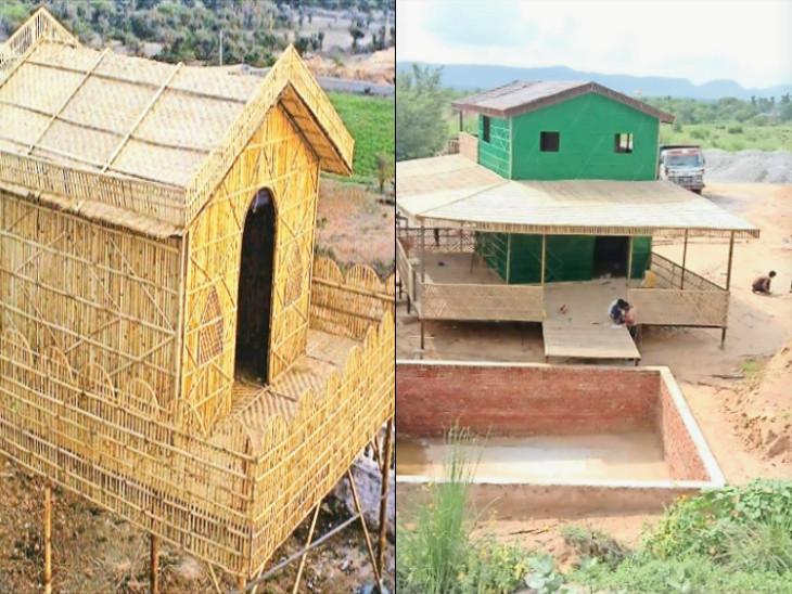 ડુપ્લેક્સ અને બે માળની પણ ઝૂંપડીઓ.