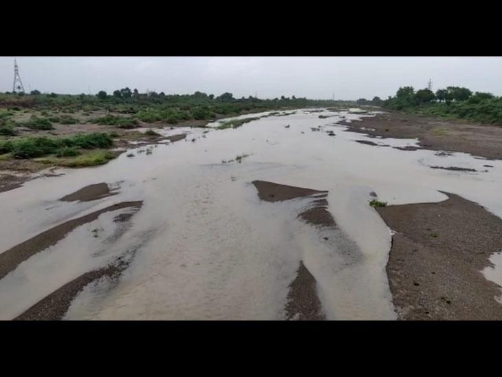 શેત્રુજી નદીમાં પુર:ચલાલા તથા અમરેલી પંથકમા પડેલા ભારે વરસાદના કારણે શેત્રુજી નદી પણ બે કાંઠે વહેવા લાગી હતી. તાે બીજી તરફ નાવલી, શેલ, ખારી વિગેરે નદીમા પુર જાેવા મળ્યું હતુ.તસવીર-વિશાલ ડોડિયા - Divya Bhaskar