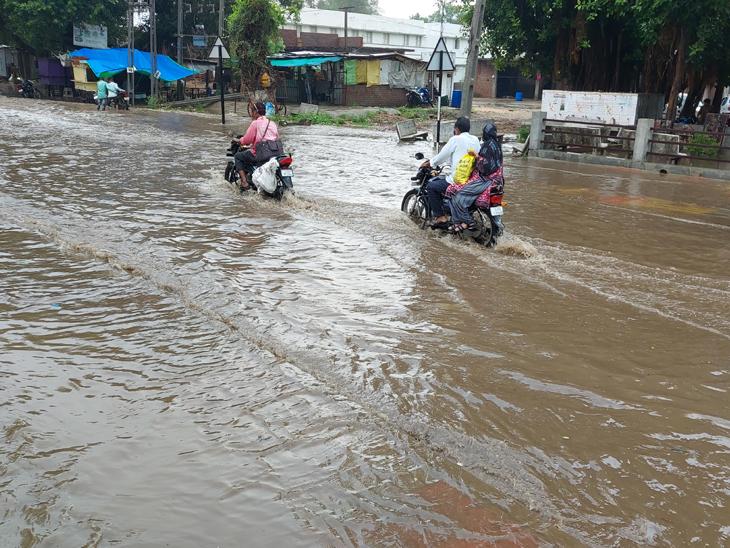 સંખેડામાં 1 કલાકમાં 1 ઈંચ વરસાદ વરસ્યો|સંખેડા,Sankheda - Divya Bhaskar