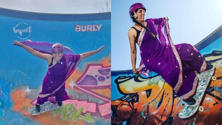સાડી પહેરીને 46 વર્ષીય મહિલાએ જબરદસ્ત સ્કેટિંગ કર્યું, જોઈને લોકો આશ્ચર્યચકિત થઈ ગયા, જુઓ વીડિયો|લાઇફસ્ટાઇલ,Lifestyle - Divya Bhaskar