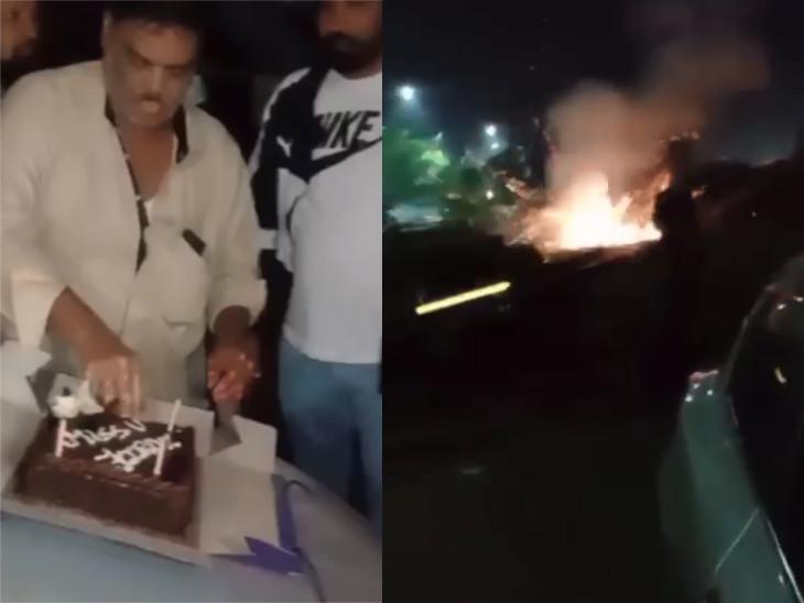 સુરતમાં કુખ્યાત બૂટલેગર વલ્લીઉલ્લના જન્મદિવસની જાહેરમાં ઉજવણી, ફટાકડા પણ ફોડ્યાં હોવાનો વીડિયો વાઇરલ|સુરત,Surat - Divya Bhaskar