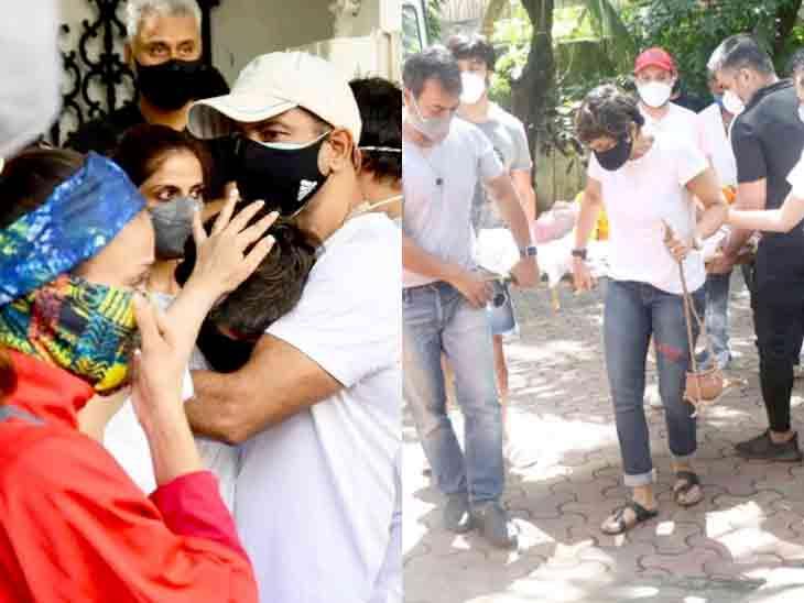 મંદિરા બેદી પતિના આકસ્મિક નિધનથી ભાંગી પડી, એક્ટ્રેસે અર્થીને કાંધ આપી; મિત્રોએ સંભાળી|બોલિવૂડ,Bollywood - Divya Bhaskar