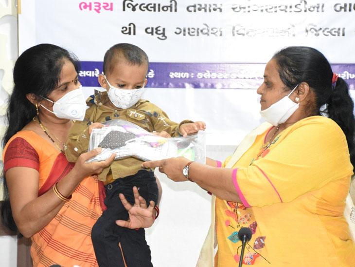 આંગણવાડીના બાળકોને વિનામૂલ્યે યુનિફોર્મ યોજનાનો CM રૂપાણી દ્વારા વર્ચ્યુઅલ પ્રારંભ|ભરૂચ,Bharuch - Divya Bhaskar
