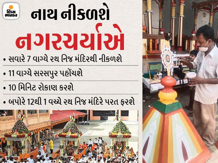 આ વર્ષે 'નાથ' નીકળશે નગરચર્યાએ, ભગવાન જગન્નાથની 144મી રથયાત્રા સવારે 7 વાગ્યે નીકળી 12 વાગ્યે નિજમંદિરે પરત ફરશે|અમદાવાદ,Ahmedabad - Divya Bhaskar