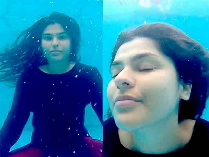 'તારક મહેતા કા ઉલ્ટા ચશ્મા'ની જૂની સોનુએ પાણીની અંદર યોગાસન કર્યાં, ગોર્જિયસ અંદાજમાં જોવા મળી|ટીવી,TV - Divya Bhaskar