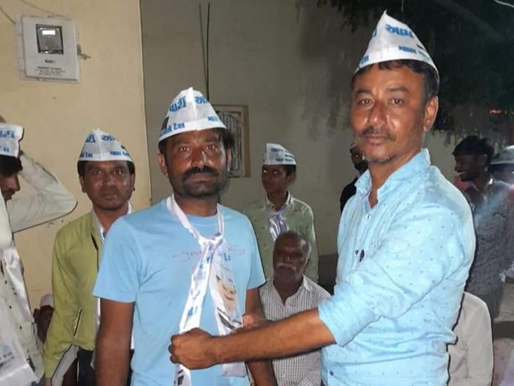 હળવદના વેગડવાવમાં 100 કાર્યકર્તાઓ 'આપ'માં જોડાયા - Divya Bhaskar