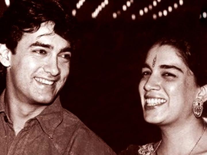 આમિર ખાન પહેલી પત્ની રીના દત્તાના પ્રેમમાં એટલો પાગલ હતો કે લોહીથી લવ લેટર લખ્યો હતો, બંનેની લવ સ્ટોરી ફિલ્મ જેવી હતી|બોલિવૂડ,Bollywood - Divya Bhaskar