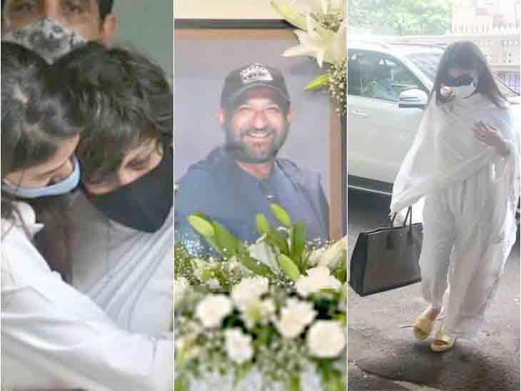 રાજ કૌશલની પ્રેયર મીટમાં મૌની રોય, મંદિરા બેદીના પેરેન્ટ્સ સહિતના સેલેબ્સ જોવા મળ્યા|બોલિવૂડ,Bollywood - Divya Bhaskar