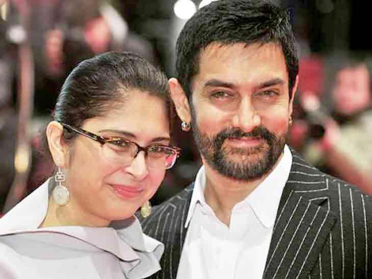 છૂટાછેડાની જાહેરાત બાદ પહેલી જ વાર આમિર-કિરણ રાવ સાથે જોવા મળ્યા, કહ્યું- અમે એક જ પરિવાર જેવા|બોલિવૂડ,Bollywood - Divya Bhaskar