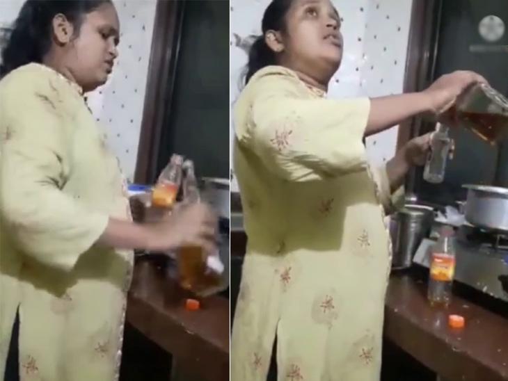 ભાજપના તા.પંચાયતના સભ્ય અને લિસ્ટેડ મહિલા બુટલેગરનો દારૂનો વિડીયો વાઈરલ, મંત્રી ઈશ્વર પરમારના ગામની બેઠક પરથી જીતી છે ચૂંટણી|સુરત,Surat - Divya Bhaskar