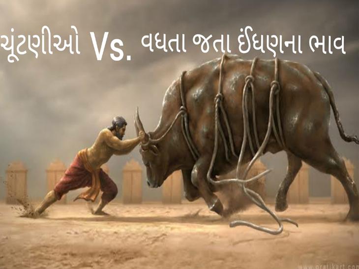 ચૂંટણી V/S ઇંધણના ભાવ - Divya Bhaskar