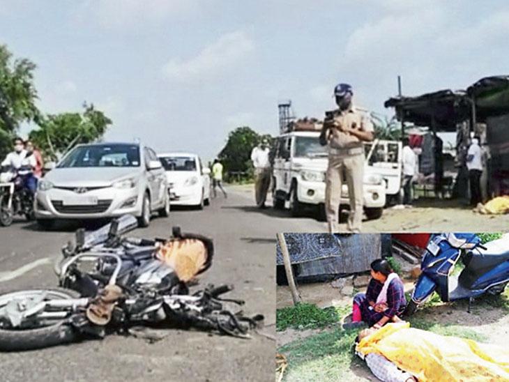 ડમ્પર-બાઈક વચ્ચે અકસ્માત વડોદરાના નાગરિકનું મોત|ડભોઈ,Dabhoi - Divya Bhaskar