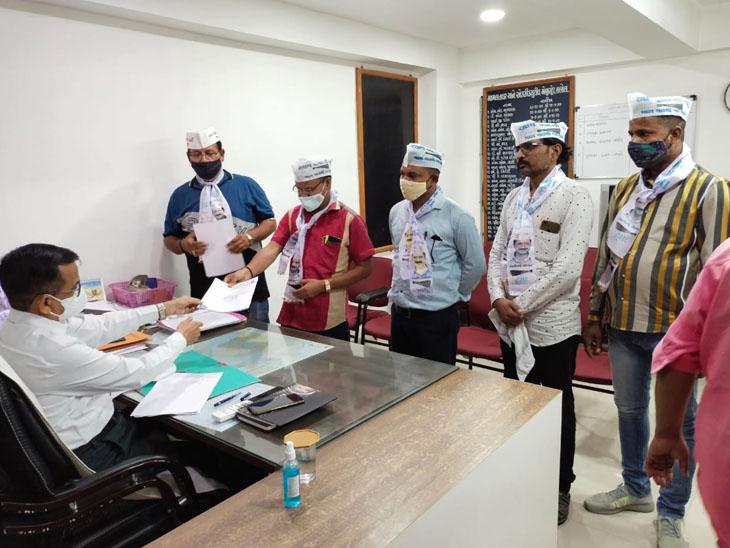 હાલોલ તાલુકા આમ આદમી પાર્ટી દ્વારા મામલતદારને આવેદન. - Divya Bhaskar