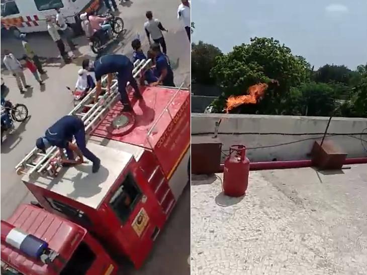 રાજકોટમાં સિવિલની નક્ષકિરણ અને યુનીકોર હોસ્પિટલમાં ફાયર વિભાગની મોકડ્રીલ, હોસ્પિ. સ્ટાફને આગમાં દર્દીઓને સલામત સ્થળે ખસેડવા પ્રેક્ટિકલ માહિતી અપાઈ રાજકોટ,Rajkot - Divya Bhaskar
